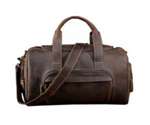 Crazy Horse Leather Sport Duffel Bag