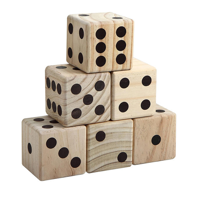Wood [ Dice ] Wooden Dices Set Factory Party Game Outdoor Game Wooden Giant Yard Dice 6pcs/set