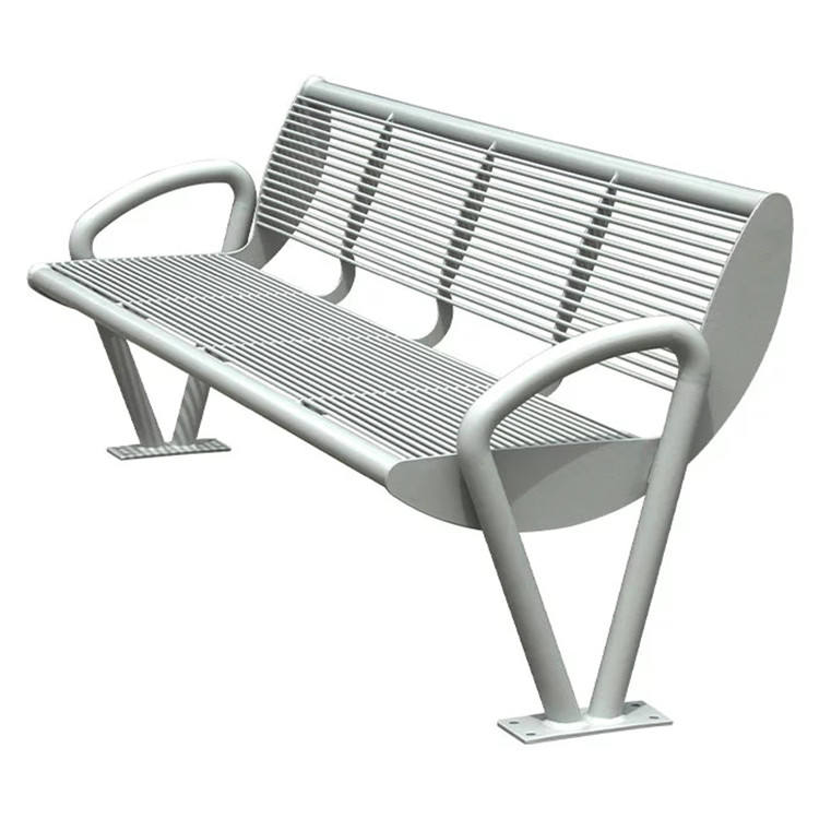 metal furniture city street heavy duty modern commercial stainless steel waiting bench seat