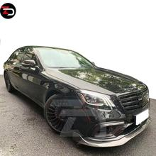 High Quality B Style Carbon Body Kit With Front Bumper Lip Rear Bumper Diffuser For AMG 2018 S Class W222 S63