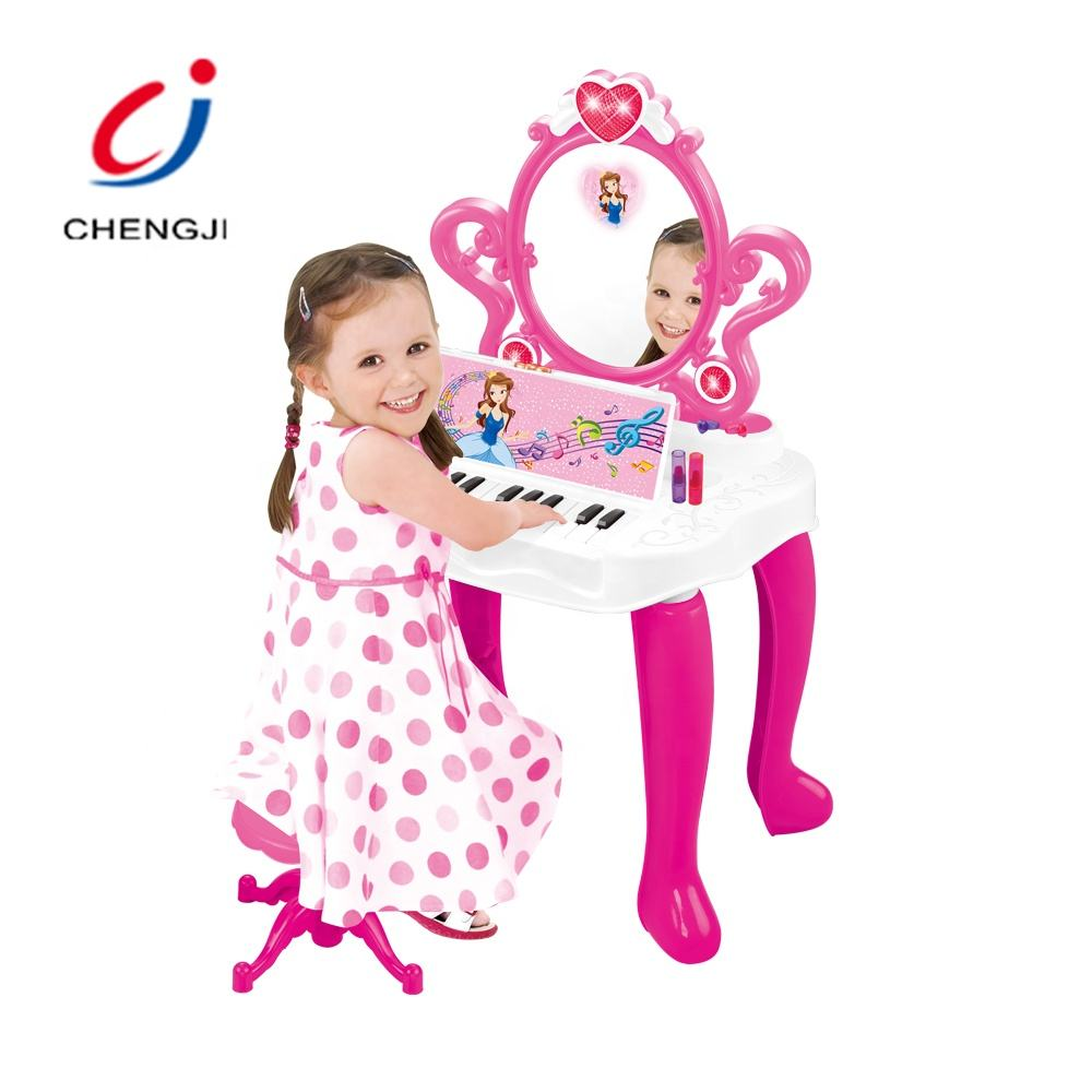 2 In1 plastic prinses makeup beauty play set kids kaptafel speelgoed