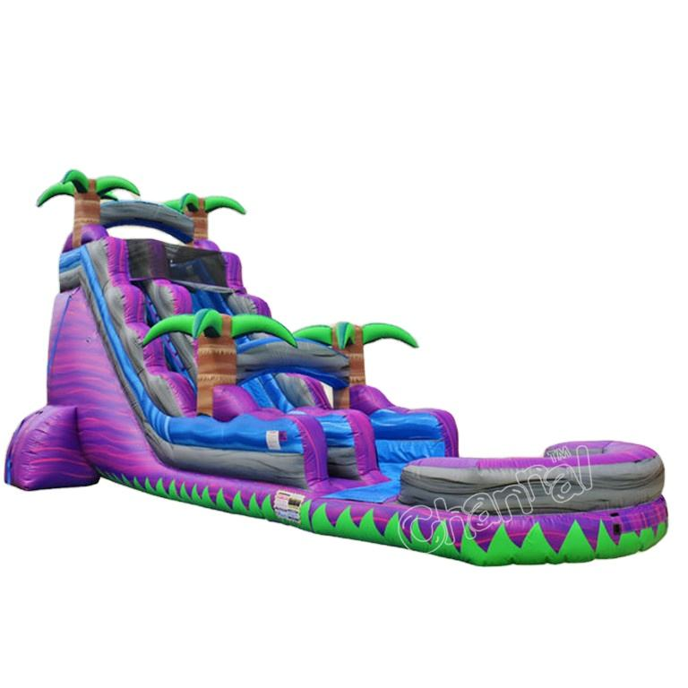purple Marble tree Slide Water Slide Open-wheel Racing commercial grade giant inflatable water slide for sale