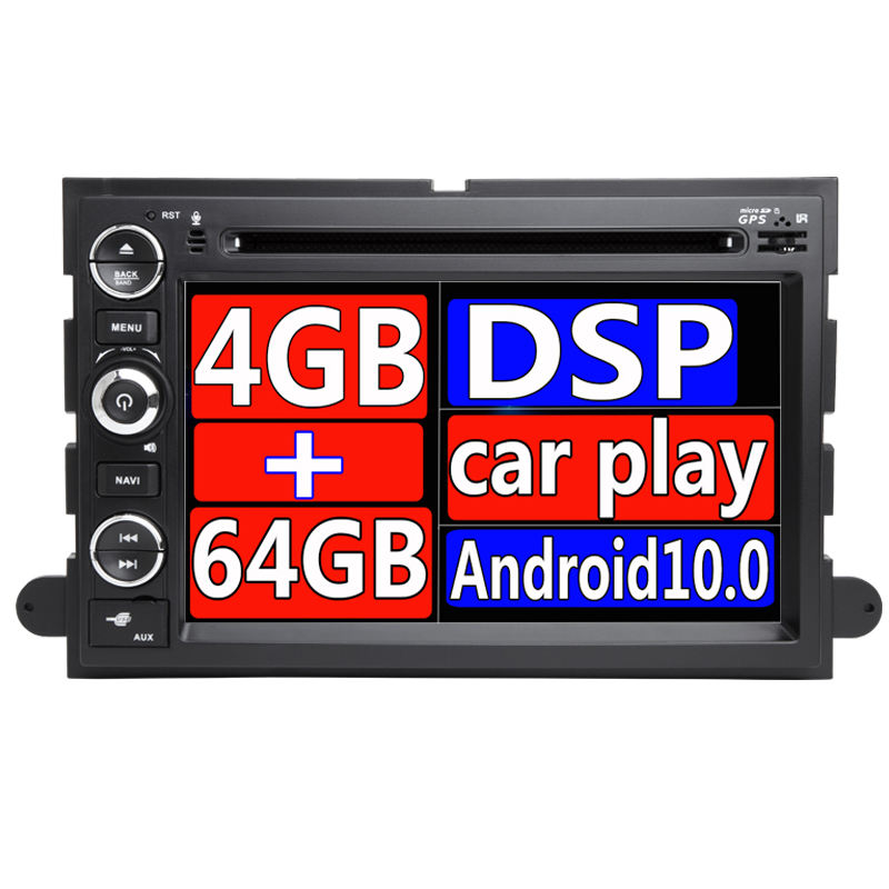 Android 10 Auto Lettore DVD Per Ford F150 F350 F450 F550 F250 Fusion Expedition Mustang Explorer Edge2GB RAM BT Wifi canbus Radio