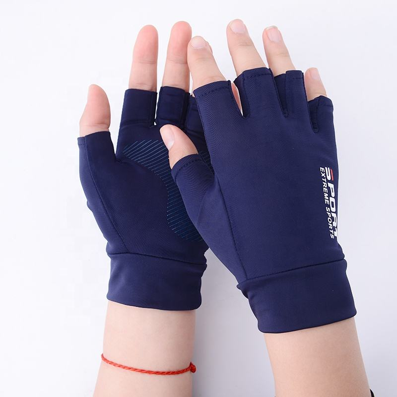 Lightweight Summer Fingerless Anti Slip Breathable Anti-Shock Padded Mountain Climbing Racing Riding Bike Bicycle Gloves