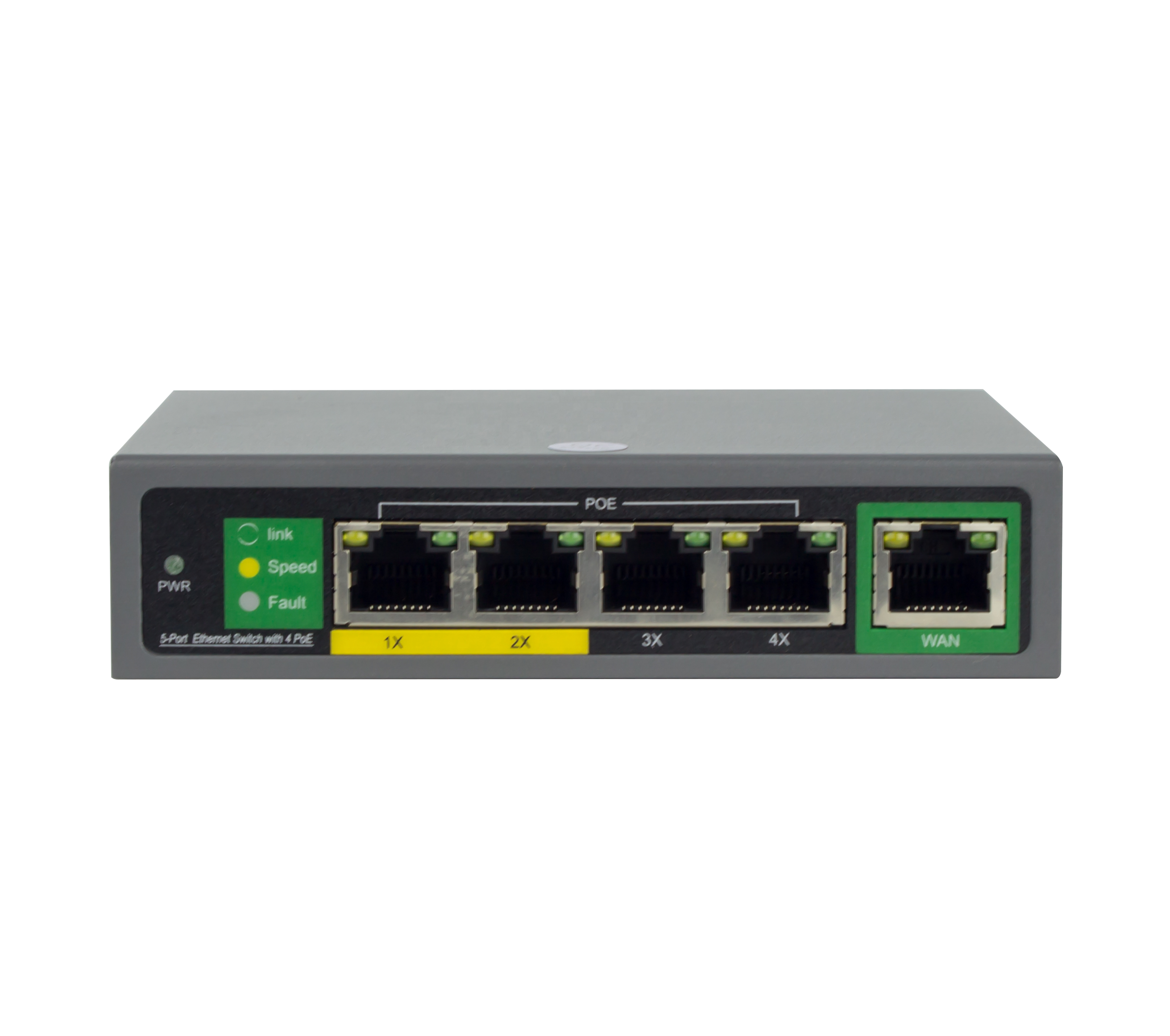 Porta Fast Ethernet Switch POE Gigabit conseguiu 4 10/100/1000M Switch de Rede