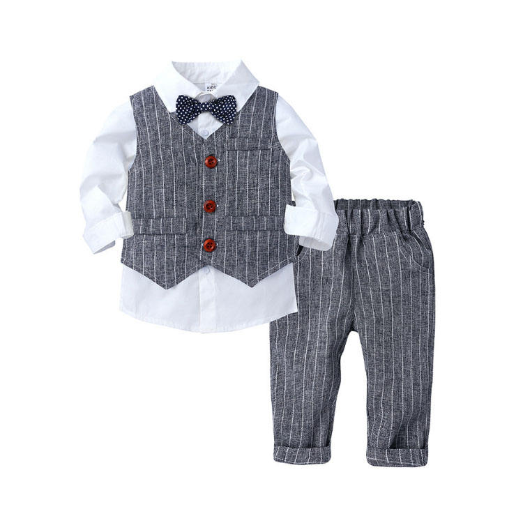2020 autumn new kids clothing suit gentleman long sleeve baby boys clothes 3-piece set