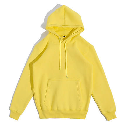 360gsm French Terry Solid Color Pullover Embroidery Hoodie