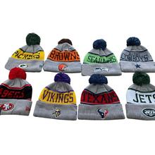 wholesale custom America football  team NFL winter hat beanie