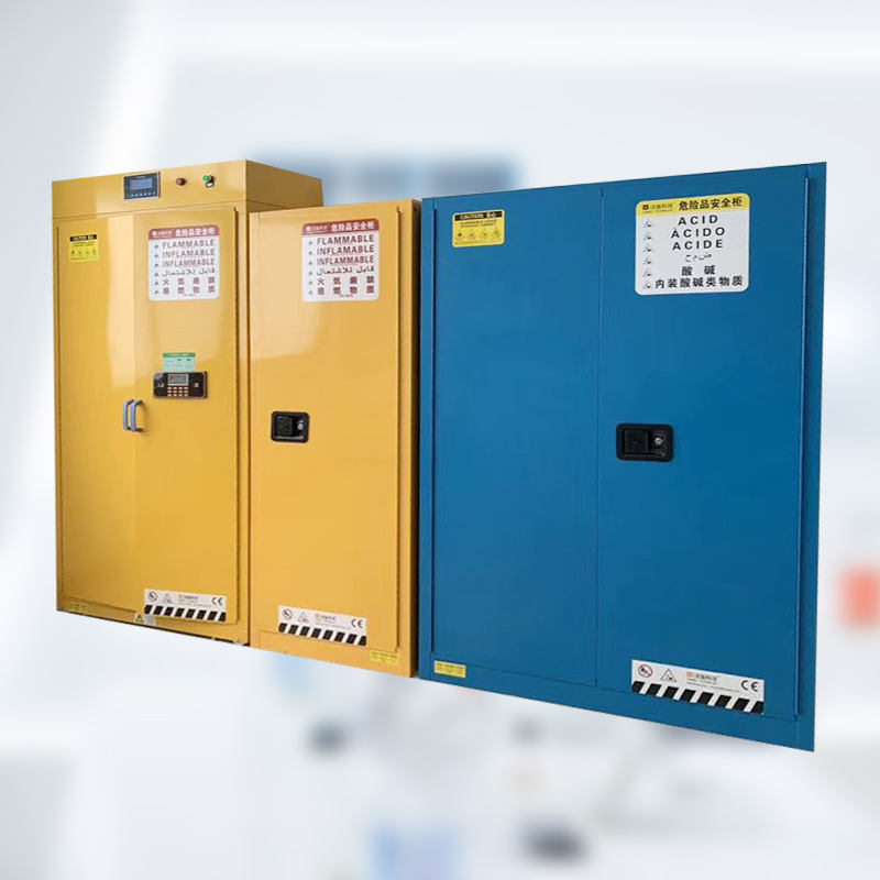 Safety Cabinet Physics Lab Chemical Safety Storage Gas Cylinder Cabinet With Gas Leak Detector