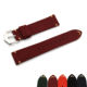 Top Layer Burgundy Suede Leather Wrist Strap 20 22mm Integrated Watch Bands Removable