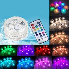 Submersible LED Lights underwater remote control Multi Color tea lights Wedding Holiday Pond Vase decoration lighting