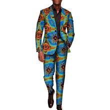 wholesale custom 2 Pieces Traditional Africa Style Pants Suits set plus size sets Blazer men clothing for Party wyn602