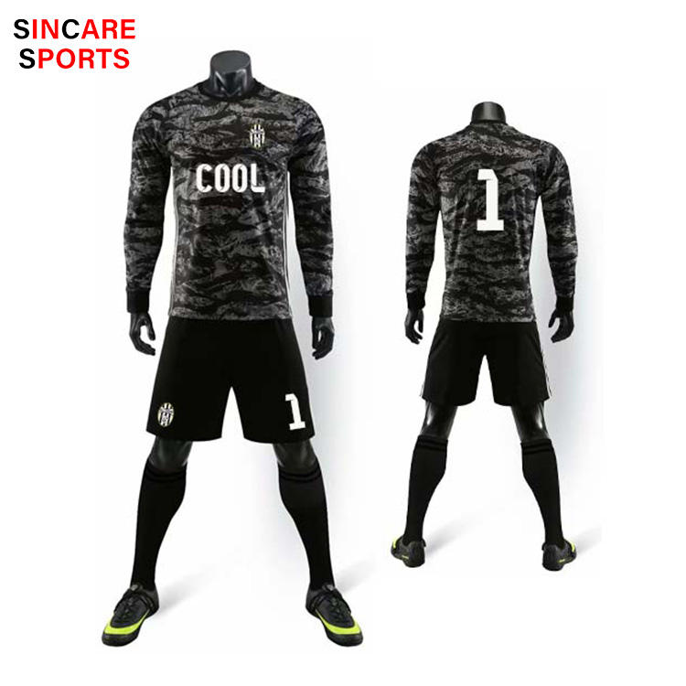 Best selling Men's and youth Cheap Long Sleeves Football Goalkeeper Jerseys Sublimation designs Soccer wears