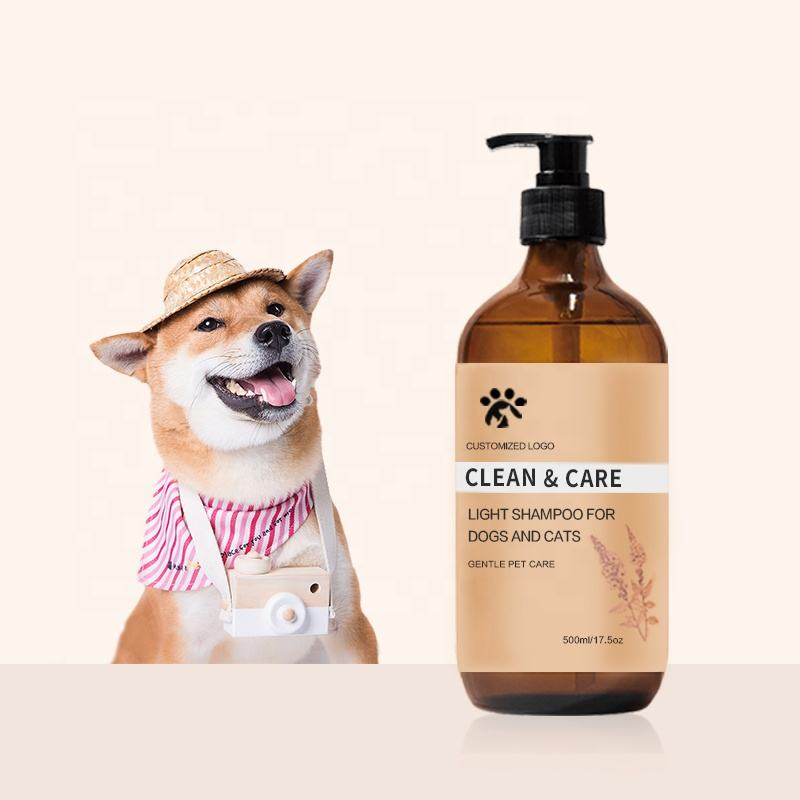Free Sample OEM Custom Logo Pet Grooming Supplies for Cat and Dog Healthy Mild Moisturizing Natural Organic Oatmeal Hair Shampoo