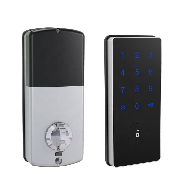 Electronic front door lock wireless wifi keypad deadbolt smart home lock Bluetooth APP TTlock Unlock