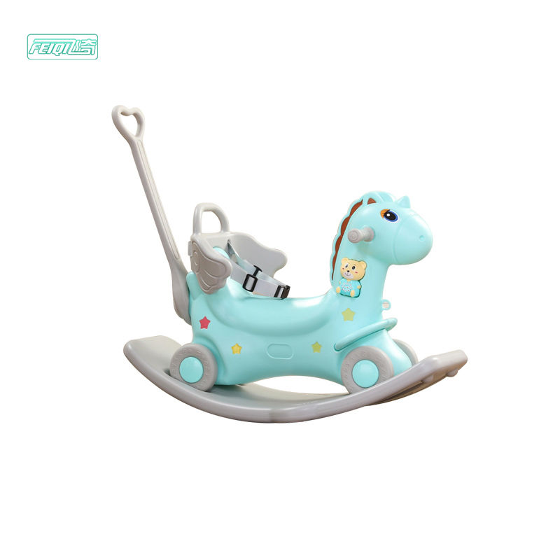 Cheap baby musical toddler walker kids games children plastic unicorn ride on rocking horse for sale