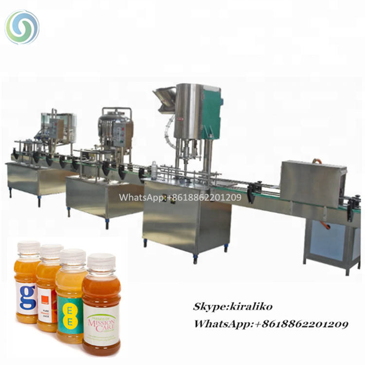 Fruit Juice Making Small Factory Productions, Semi Automatic Liquid Filling Machine, Juicer Filling Line