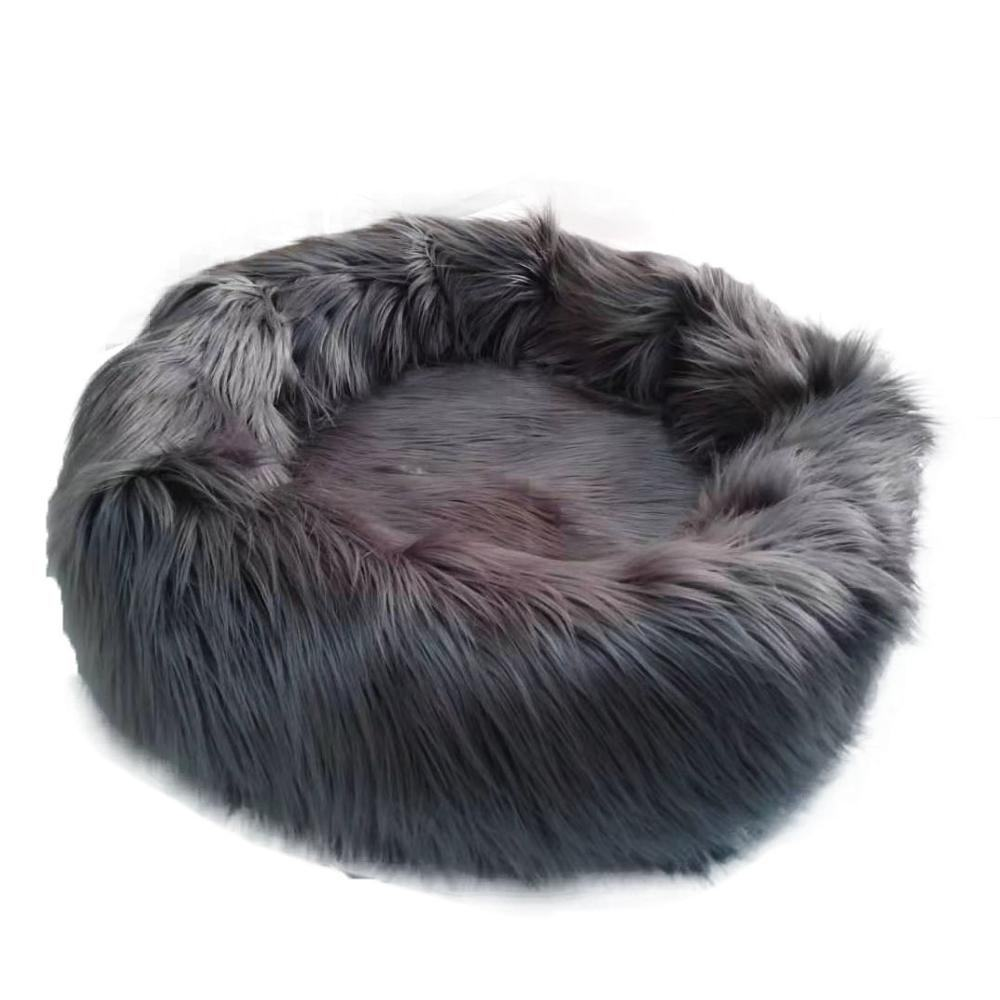 Super soft high pile fur warm cute skidproof dogs' bed for winter