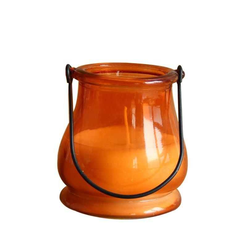 Naranja personalizado al aire libre velas de citronela de <span class=keywords><strong>cera</strong></span> de luz de camping anti-insectos Mosquito más colores