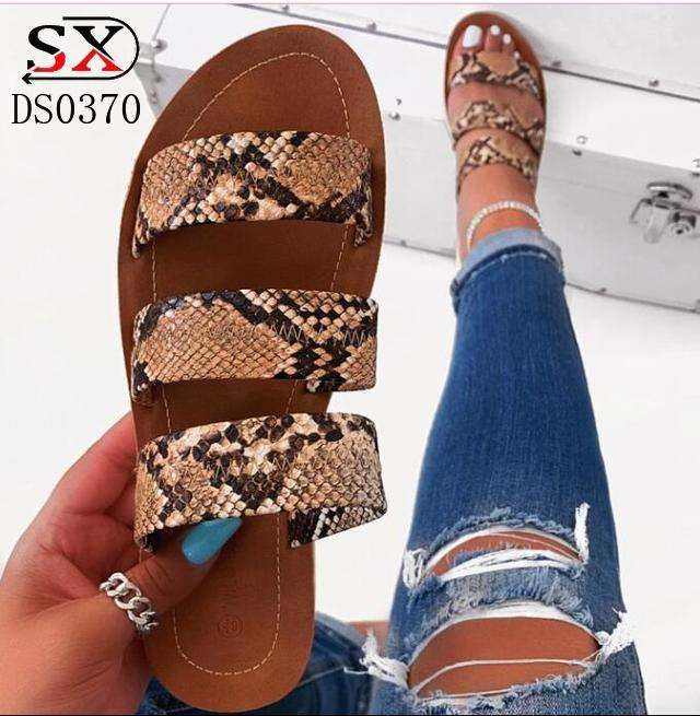 New style fashion Flat shoes for women casual shoes new design women leather sandals
