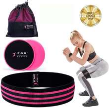 Anti Slip Gym Home Workout Core Sliders and Fabric Resistance Band Set