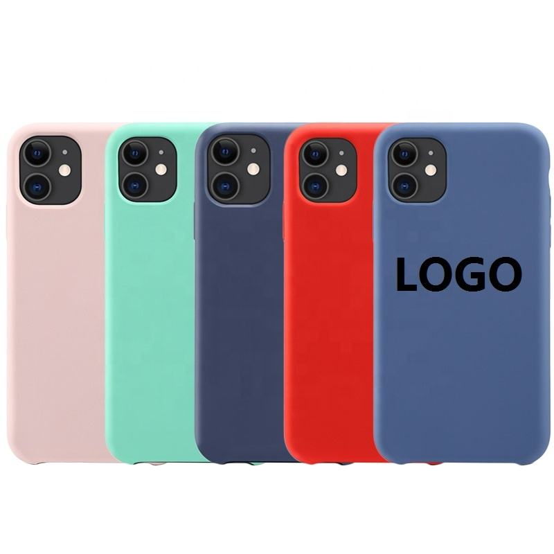 cases de silicon orginal liquid silicone cas for iphone x xr xs max, for iphone 8 back housing logo