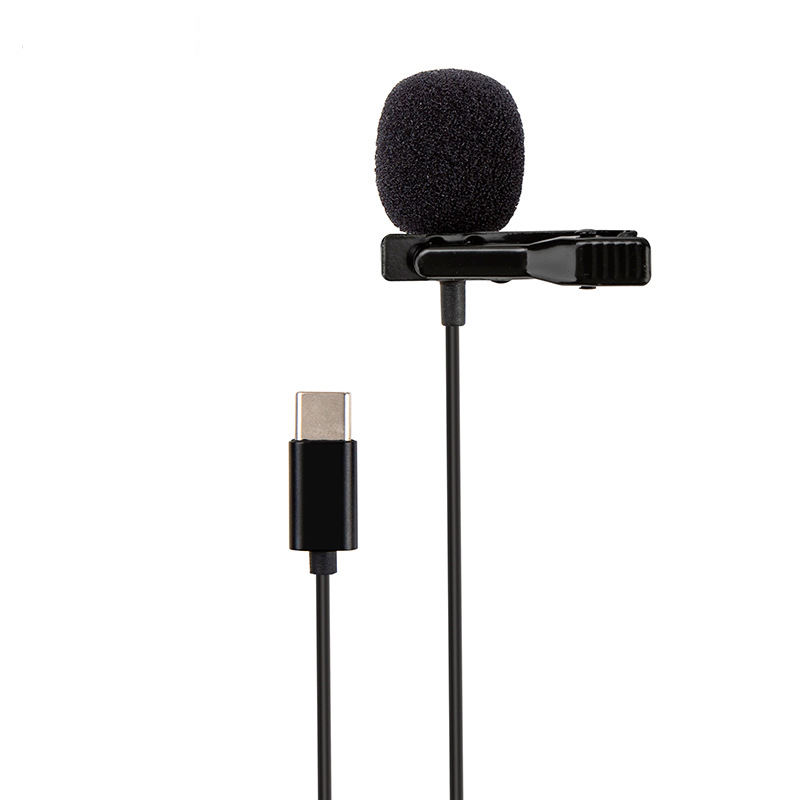 2020 new USB-C type-c lapel lavalier clip-on Recording microphone for online course