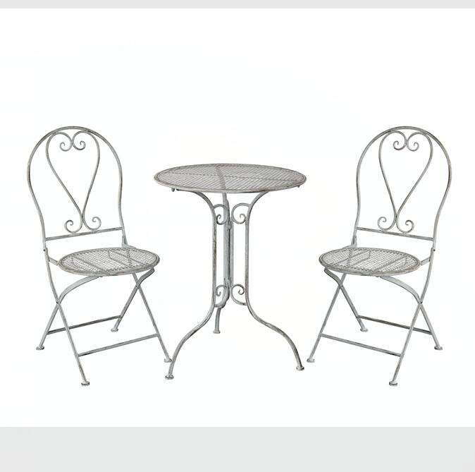 Cheap Cast Iron Folding Balcony Table Chairs Outdoor Garden Patio Bistro Set Furniture