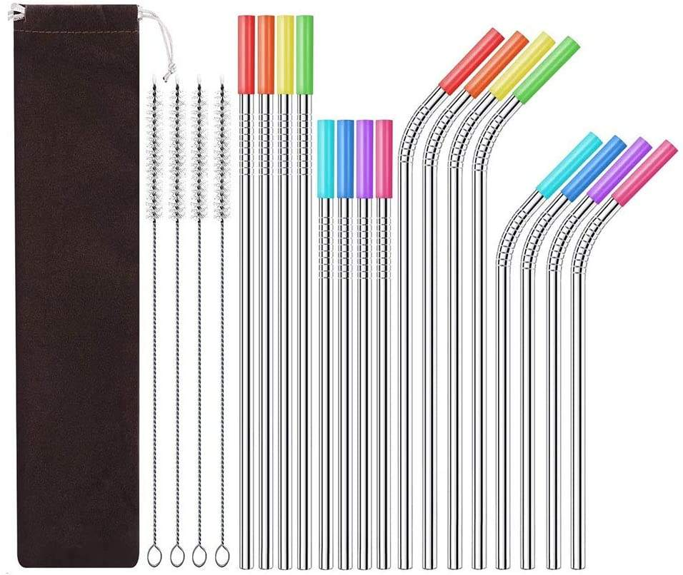 free samples in the United States Reusable Metal Straw Wholesale Silicone Drinking Metal Stainless Steel Straw
