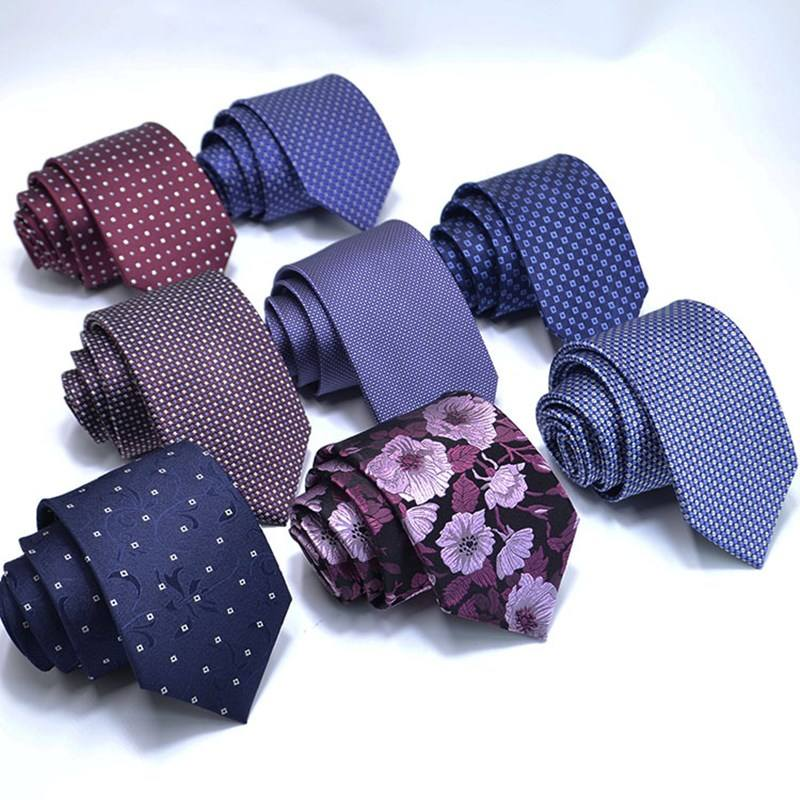 Men's 100% Silk Ties Classic Woven Jacquard Printed Neck Ties for Men