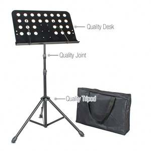 Portable metal Adjustable Folding Sheet Music Stand with carrying bag