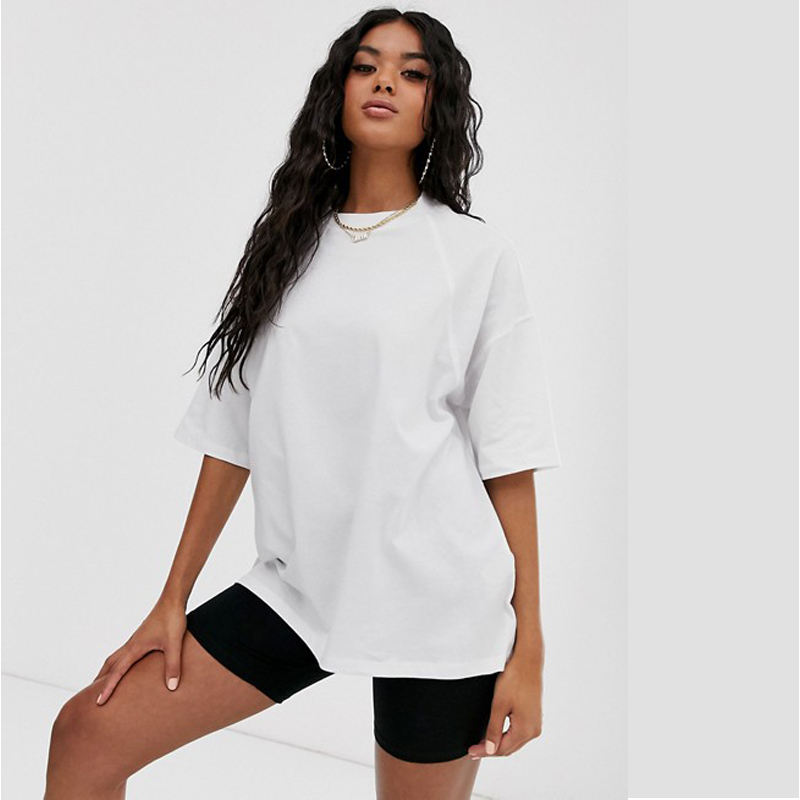 Factory Directly Sales High Quality Oversized Dropped Shoulders Workout Gym Yoga T Shirt Women