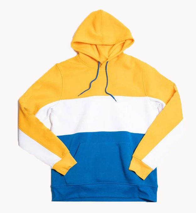 Custom Your Own Design Men Cut &Sew Hoodie Color Block Pullover Sweatshirt Bright Colored Sweatshirts