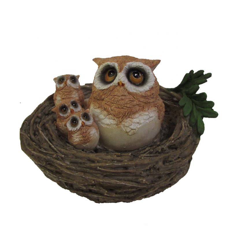 Z11176A High Quality Manufacturer Supplier Garden Bird Ornaments Owl Unpainted Resin Owl Figurines