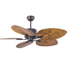 Southeast Asia Style New ABS Palm 5 Blade Remote Control Fancy Decorative Chandelier Light Ceiling Fan