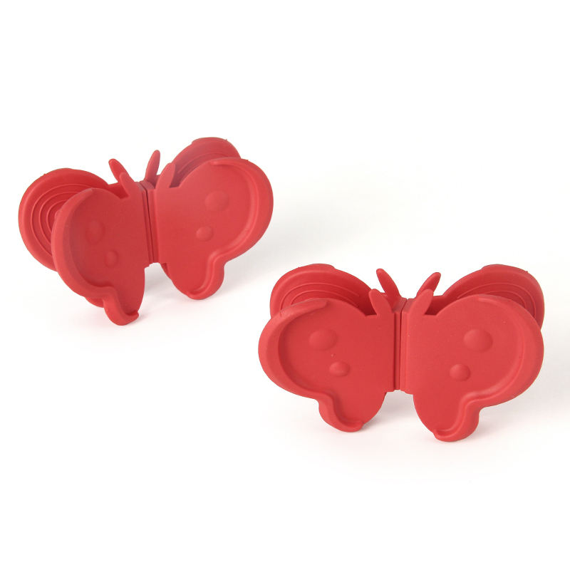 Heat Resistant Silicone Butterfly Dish Plate Clip Oven Mitt Bowl Pot Holders with Magnet