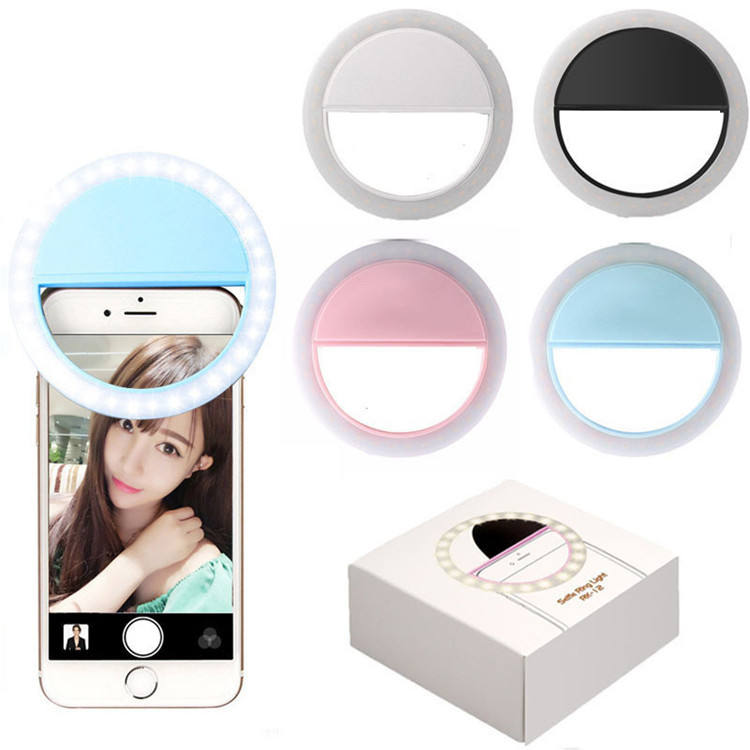 2020 Amazon Hot rechargeable mini clip on Selfie live ring fill-in light fill light lamp