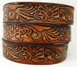 High Quality Adjustable Carved Genuine leather Belt