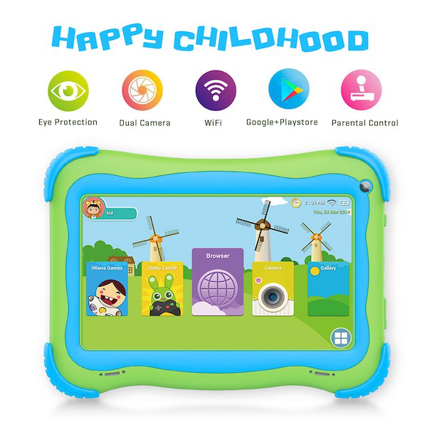 Shenzhen OEM cheap tablets 7 inch 1024*600 HD screen quad core Android 8.1 with Bluetooth certificated super smart pad