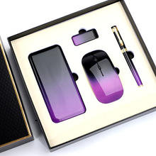 Personalize gift power bnak set with mouse pen/usb disk