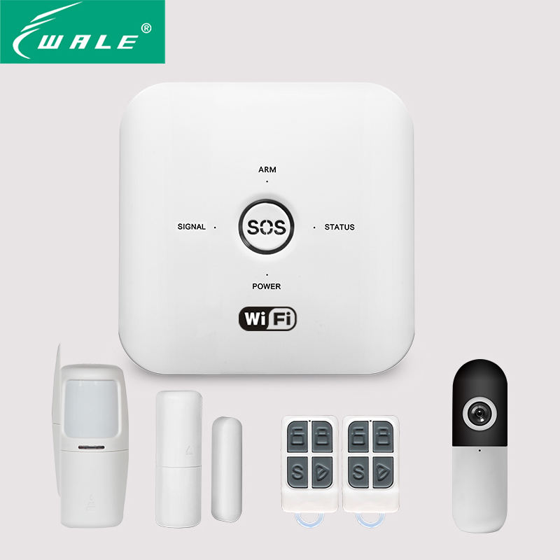 Alexa Tuya Smart Home White WIFI+GSM+GPRS Alarm Door System Window Open Sensor Device