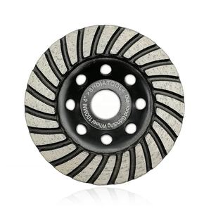 SHDIATOOL 4 inch 100mm Diamond turbo row grinding cup wheel for concrete granite marble
