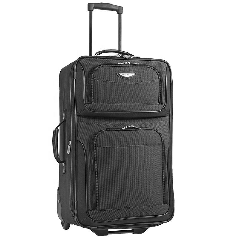 2020 Hot Selling Best Rated Lightweight XL Black 2 Wheel Rolling Soft Flying Cabin Carry On Set Luggage
