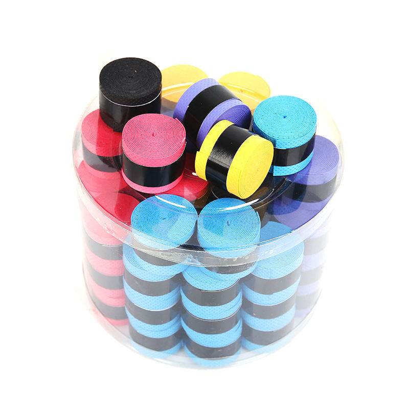 60pcs PU Racquet Grip Tennis Badminton Squash Rackets Overgrip Anti Slip Perforated Super Absorbent Grips
