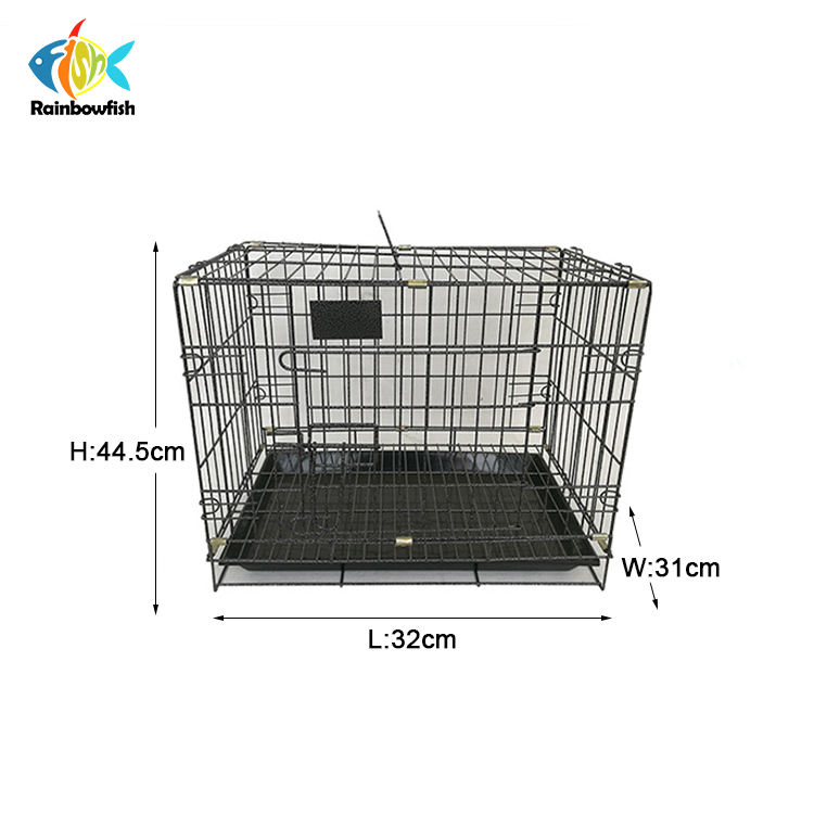 animal+cages cheap price galvanized welded folding transport dog cage with plastic tray and hook hang