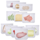 BPA FREE Freezer Ziplock Storage Food Bag Reusable Sandwich & Snack Bags Lunch Bags for Kids