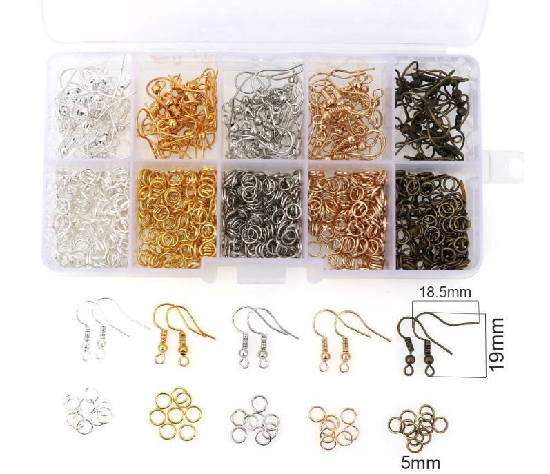 Jewelry Findings Accessories Set Jump Rings Earring Hook For DIY Making
