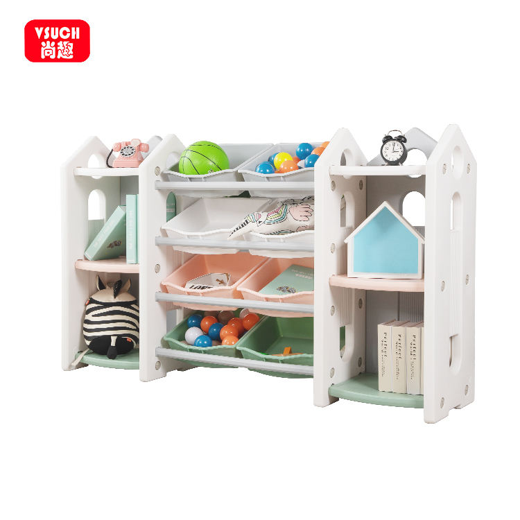Kids Daycare Furniture Sets Children Toy Storage Shelf Baby Nursery Furniture