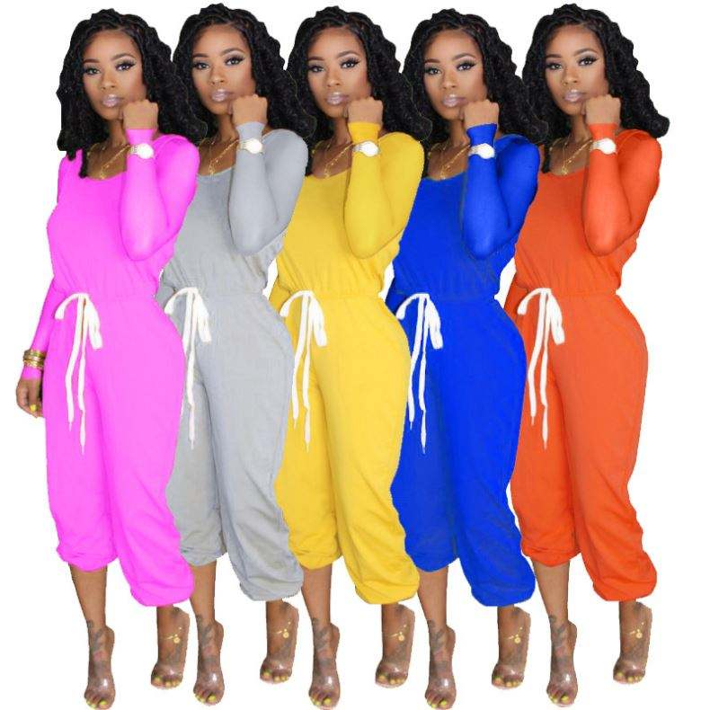 2020 New Arrival Winter Fall Clothing For Women Solid Color Long Pants And Long Sleeve Shirts Tracksuits Set