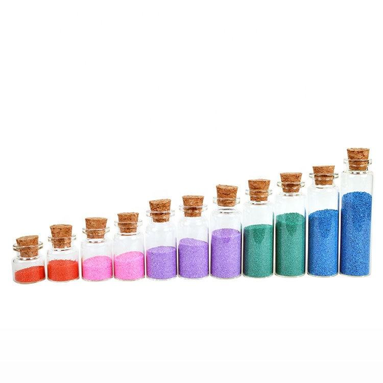 Empty Clear Glass Bottles Vials with Cork Stopper 5ml 10ml 15ml
